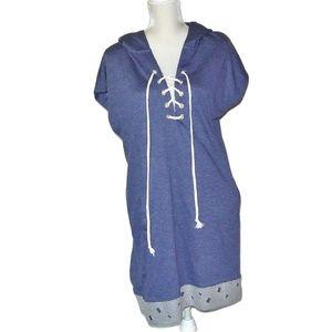 VENUS Grommet Detail Lounge Dress  Blue L